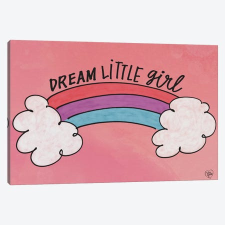 Dream Little Girl Canvas Print #ERB10} by Erin Barrett Canvas Art