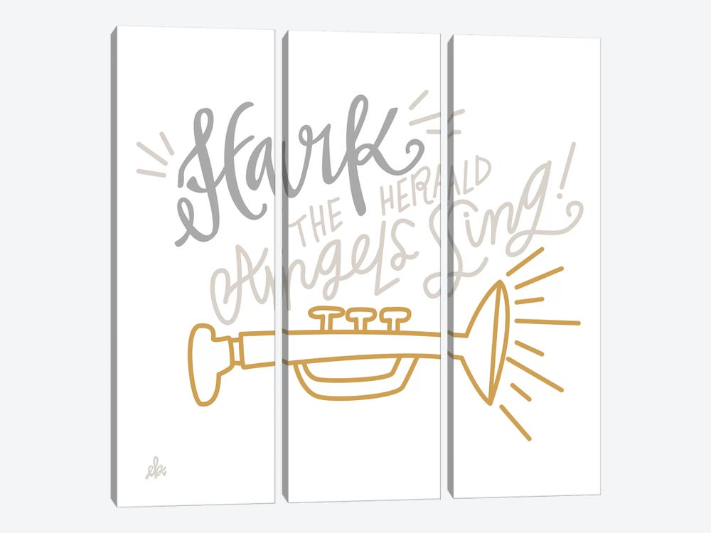 Hark The Herald Angels Sing    by Erin Barrett 3-piece Canvas Art