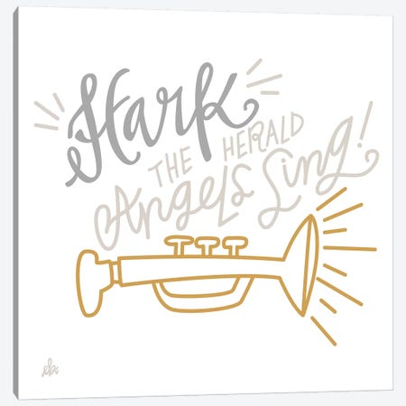 Hark The Herald Angels Sing    Canvas Print #ERB114} by Erin Barrett Canvas Wall Art