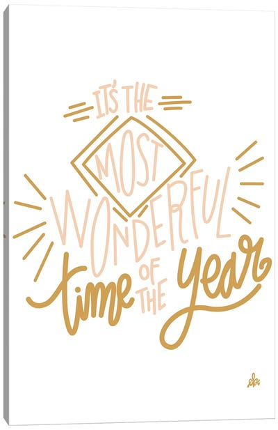 It's The Most Wonderful Time Of The Year   by Erin Barrett Canvas Art Print