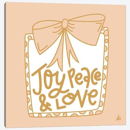 Joy Peace & Love    Canvas Print #ERB119} by Erin Barrett Canvas Print