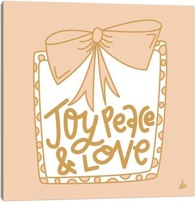 Joy Peace & Love    Canvas Art Print
