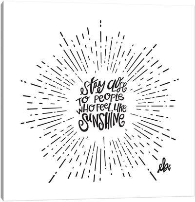 Feel Like Sunshine Canvas Art Print