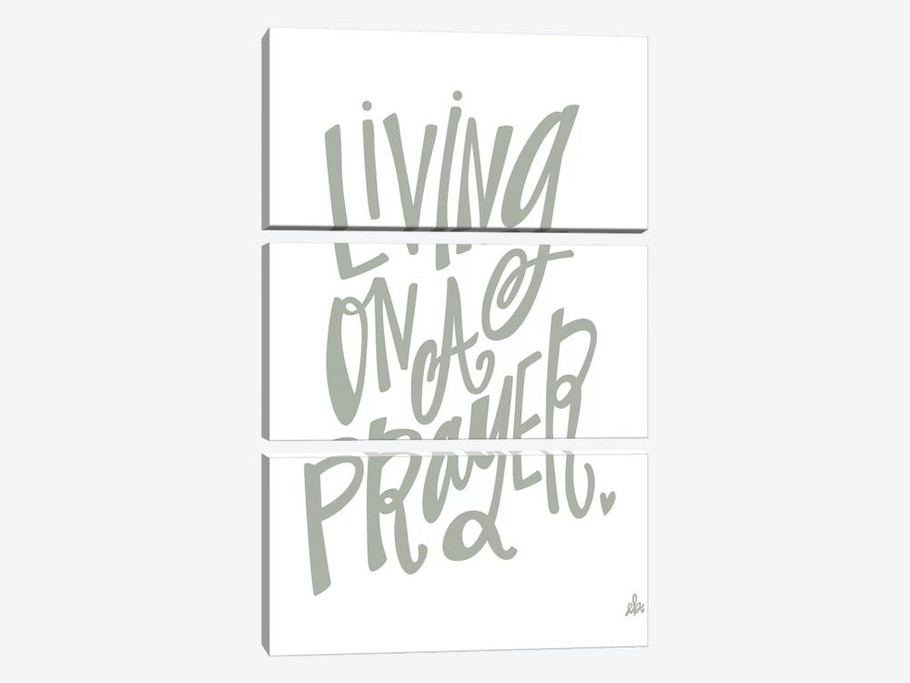 Living On A Prayer   3-piece Canvas Print