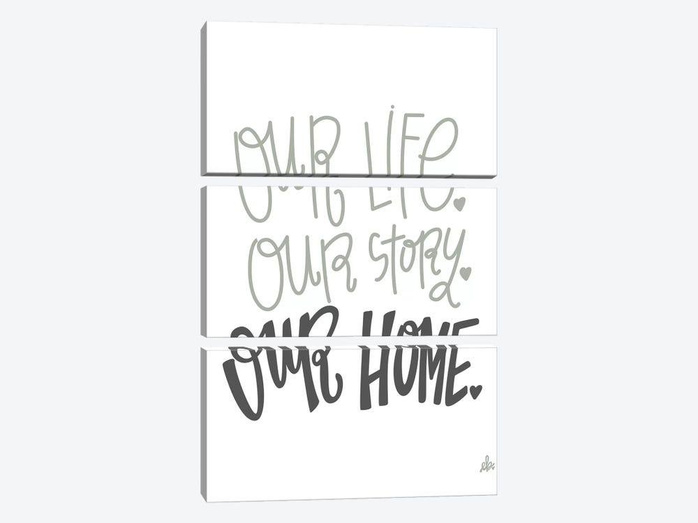 Our Home   by Erin Barrett 3-piece Canvas Wall Art