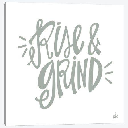 Rise & Grind   Canvas Print #ERB124} by Erin Barrett Canvas Print