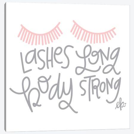 Lashes Long, Body Strong Canvas Print #ERB128} by Erin Barrett Canvas Art