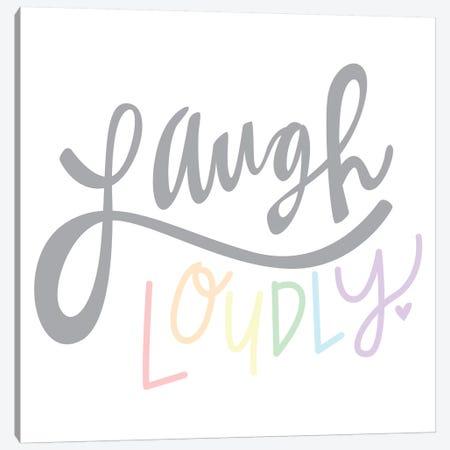 Laugh Loudly Canvas Print #ERB129} by Erin Barrett Canvas Art