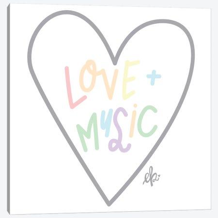 Love and Music Canvas Print #ERB130} by Erin Barrett Art Print