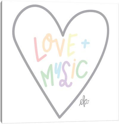 Love and Music Canvas Art Print