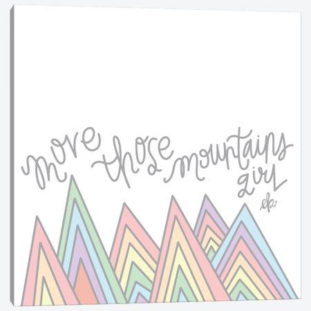 Move Those Mountains Girl Canvas Print #ERB132} by Erin Barrett Canvas Print
