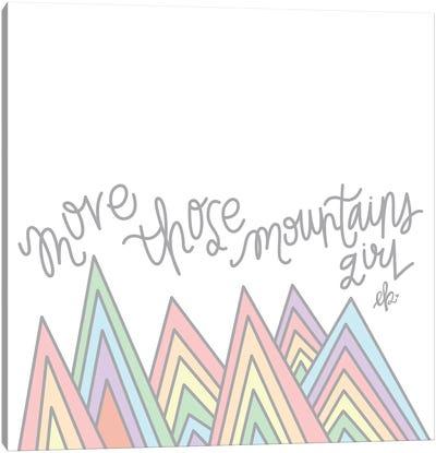 Move Those Mountains Girl Canvas Art Print