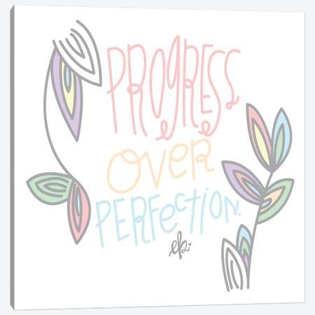 Progress Over Perfection Canvas Print #ERB133} by Erin Barrett Canvas Print