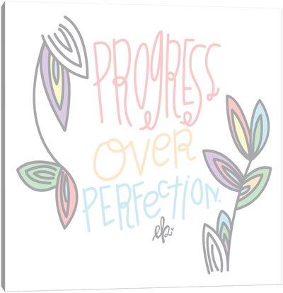 Progress Over Perfection Canvas Art Print