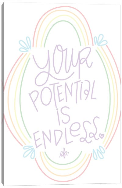 Your Potential is Endless by Erin Barrett Canvas Art Print