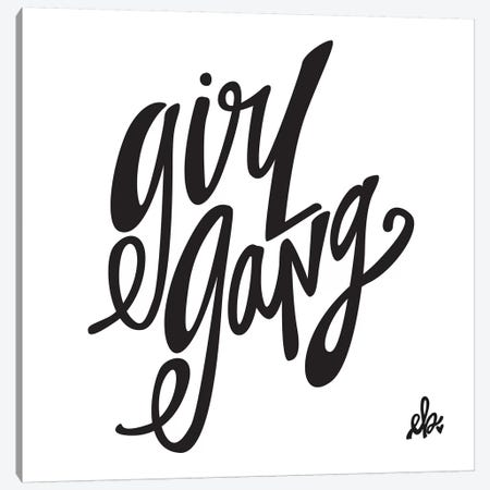 Girl Gang Canvas Print #ERB13} by Erin Barrett Canvas Wall Art