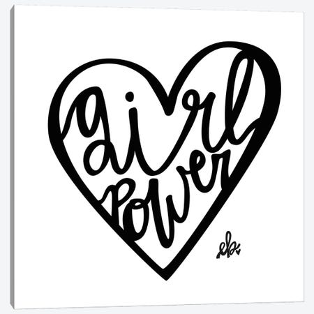Girl Power Canvas Print #ERB14} by Erin Barrett Art Print