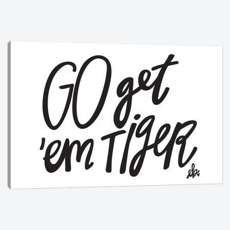 Go Get'em Tiger Canvas Print #ERB16} by Erin Barrett Canvas Art Print