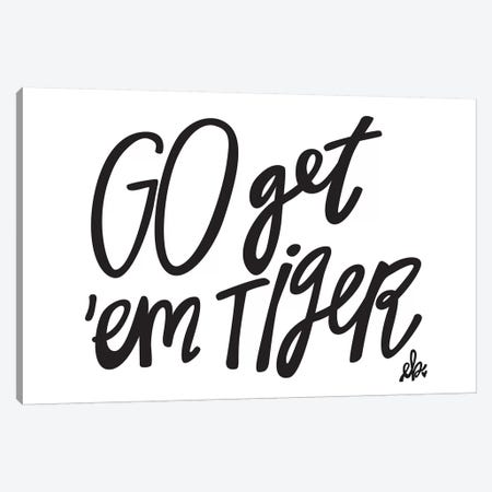 Go Get'em Tiger Canvas Print #ERB16} by Erin Barrett Canvas Art Print