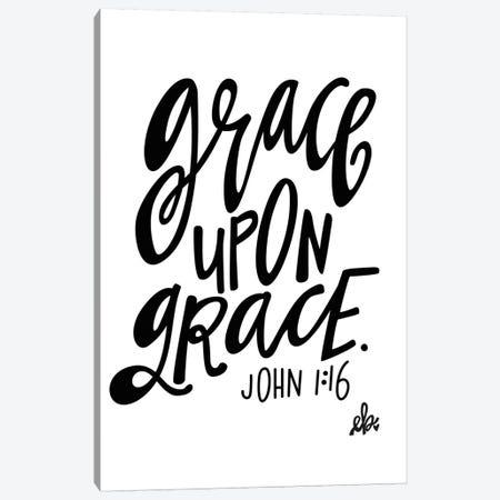 Grace Upon Grace Canvas Print #ERB17} by Erin Barrett Art Print