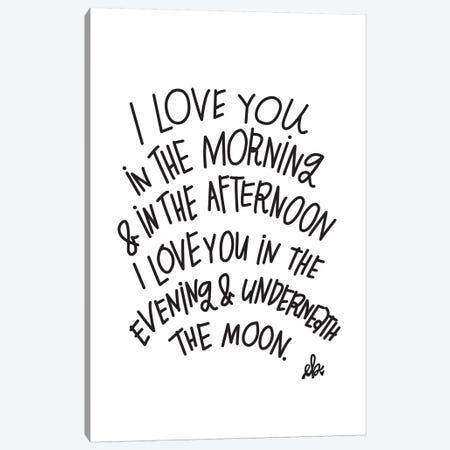 I Love You Canvas Print #ERB18} by Erin Barrett Canvas Artwork