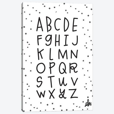 Alphabet Canvas Print #ERB1} by Erin Barrett Art Print
