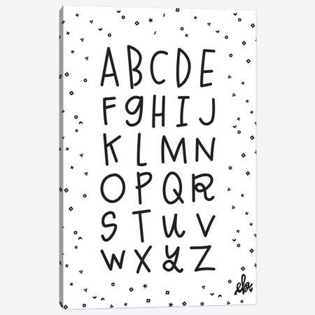 Alphabet Canvas Print #ERB1} by Erin Barrett Art Print