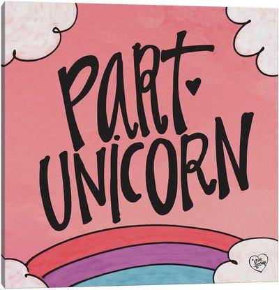 Part Unicorn Canvas Art Print