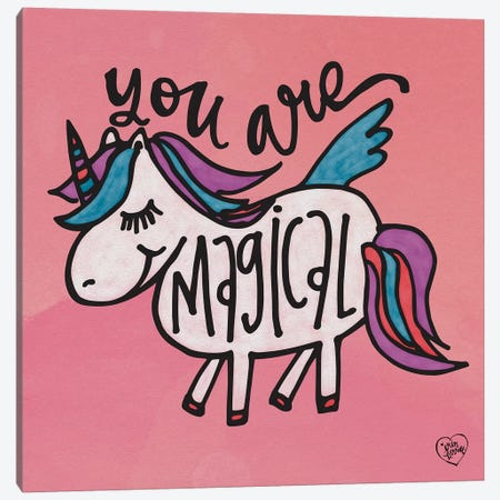 You Are Magical Canvas Print #ERB33} by Erin Barrett Canvas Artwork