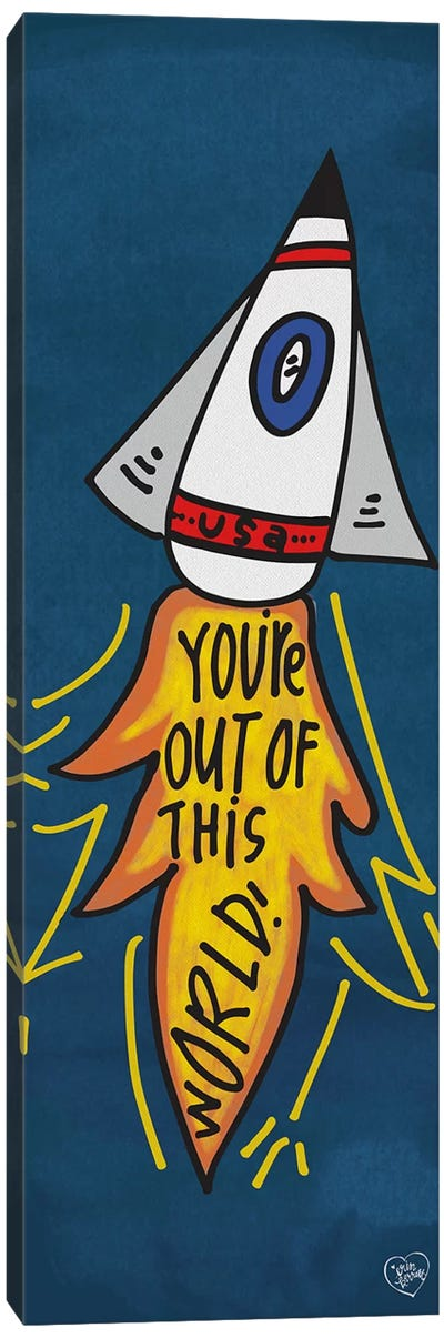 You're Out of This World by Erin Barrett Canvas Art Print