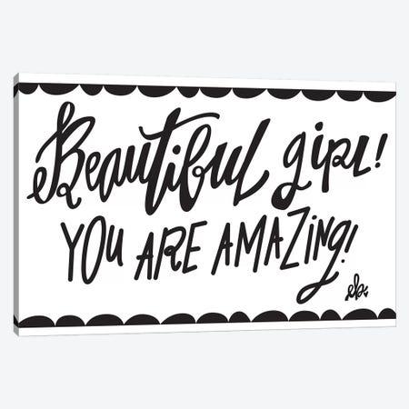 Beautiful Girl! Canvas Print #ERB3} by Erin Barrett Canvas Art Print