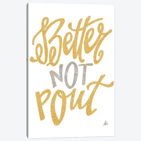 Better Not Pout 3-Piece Canvas #ERB40} by Erin Barrett Canvas Art Print
