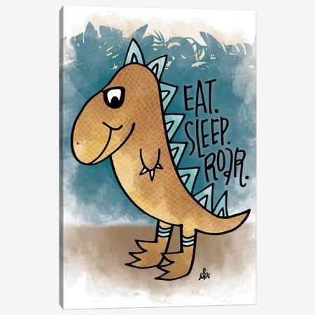 Eat, Sleep, Rawr Canvas Print #ERB44} by Erin Barrett Canvas Wall Art