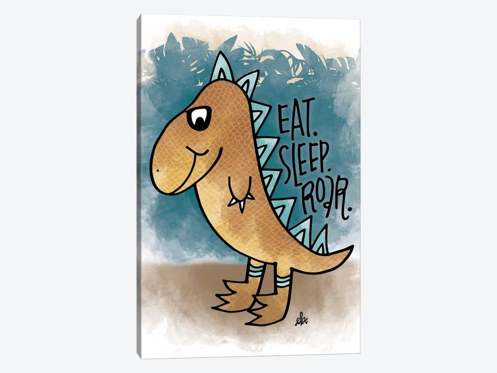 Eat, Sleep, Rawr by Erin Barrett 1-piece Canvas Print