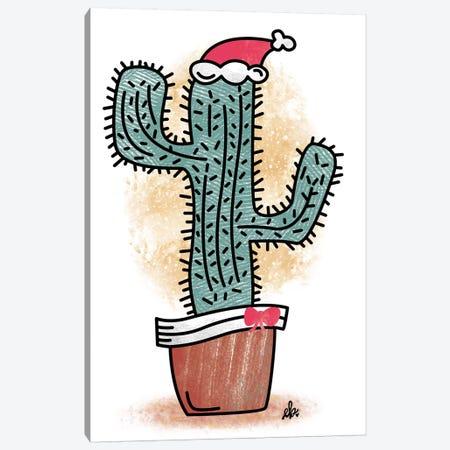 Feliz Navidad Cactus Canvas Print #ERB47} by Erin Barrett Canvas Wall Art