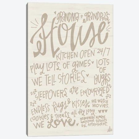 Grandma & Grandpa's House Canvas Print #ERB49} by Erin Barrett Canvas Print