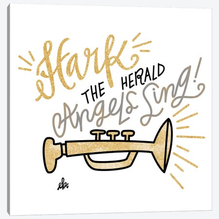 Hark the Herald Angels Sing Canvas Print #ERB50} by Erin Barrett Canvas Wall Art