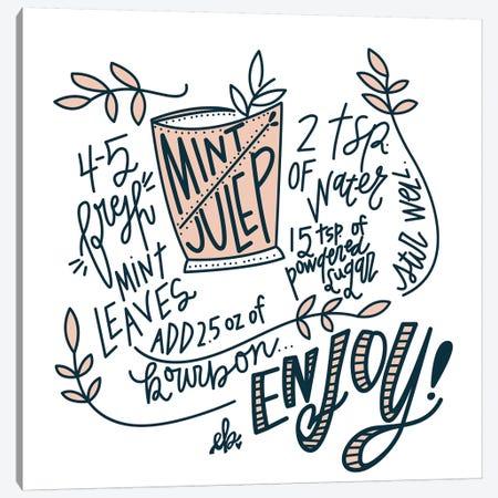 Mint Julep Canvas Print #ERB57} by Erin Barrett Canvas Print