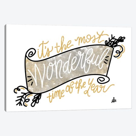 Most Wonderful Time of the Year Canvas Print #ERB59} by Erin Barrett Canvas Wall Art