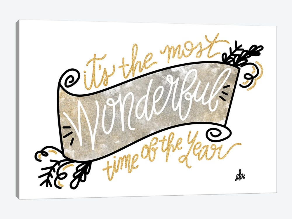 Most Wonderful Time of the Year by Erin Barrett 1-piece Canvas Print