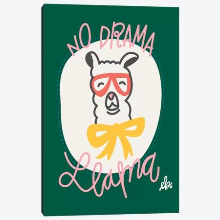 No Drama Llama Canvas Print #ERB60} by Erin Barrett Canvas Art Print