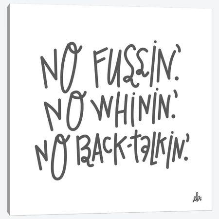 No Fussin' Canvas Print #ERB61} by Erin Barrett Canvas Print