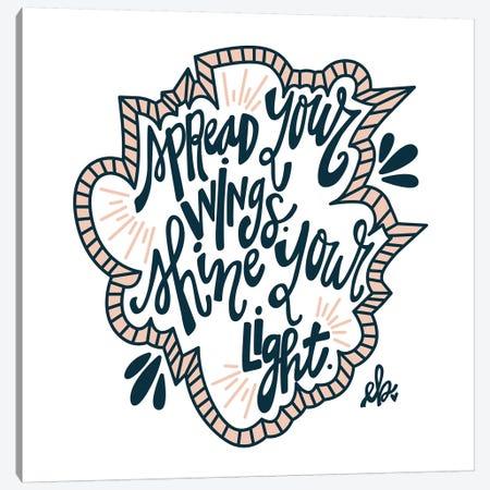 Spread Your Wings Canvas Print #ERB66} by Erin Barrett Canvas Wall Art