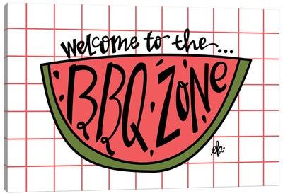 BBQ Zone Canvas Art Print