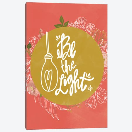 Farmhouse Be the Light Canvas Print #ERB79} by Erin Barrett Canvas Wall Art