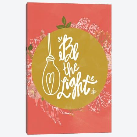 Farmhouse Be the Light Canvas Print #ERB79} by Erin Barrett Canvas Wall Art