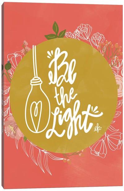 Farmhouse Be the Light Canvas Art Print
