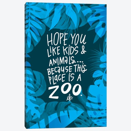 Flamingo Zoo Canvas Print #ERB83} by Erin Barrett Canvas Print
