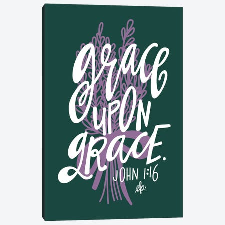 Grace Upon Grace Canvas Print #ERB84} by Erin Barrett Canvas Wall Art
