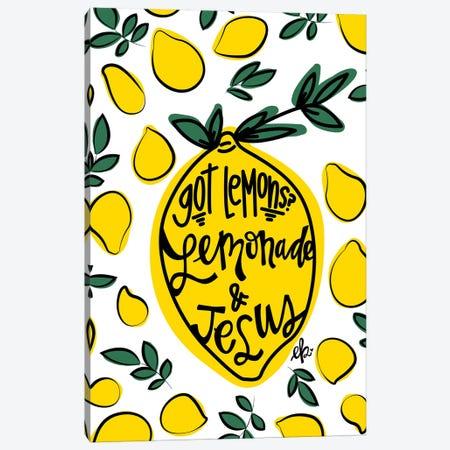 Lemonade and Jesus Canvas Print #ERB87} by Erin Barrett Canvas Wall Art